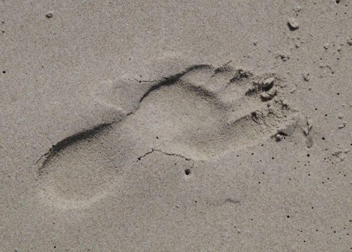 Chůze v písku