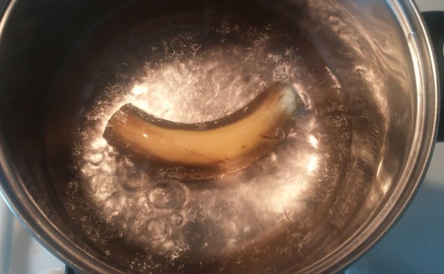 banánový čaj