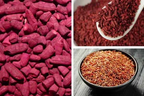 červená kvasnicová rýže