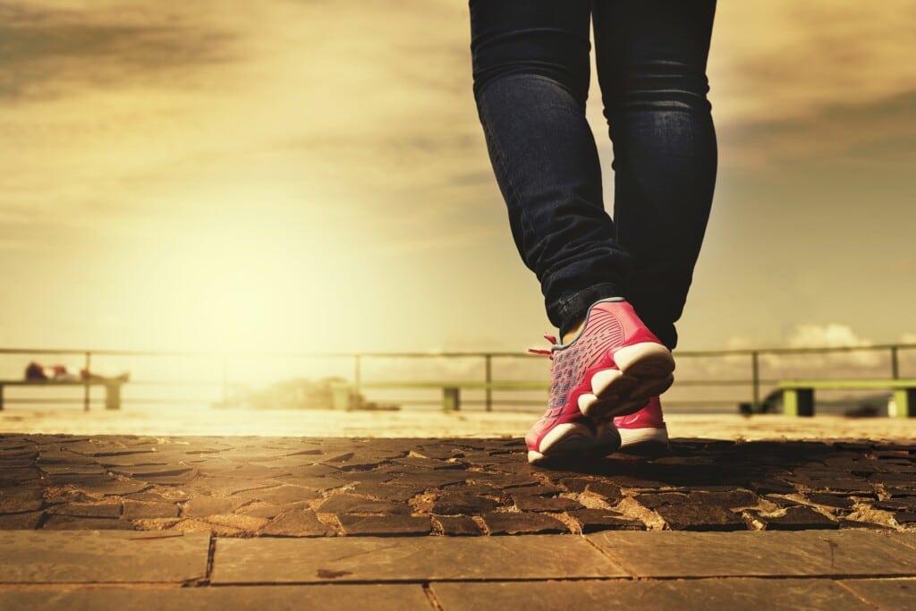hubnutí pomocí chůze