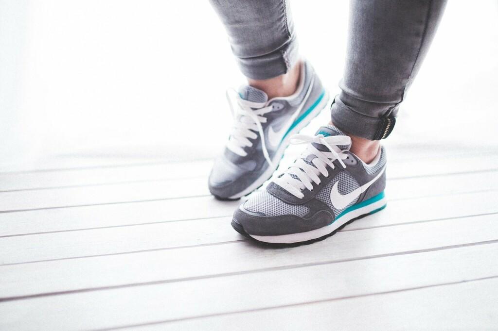 Sportovní boty na cvičení.